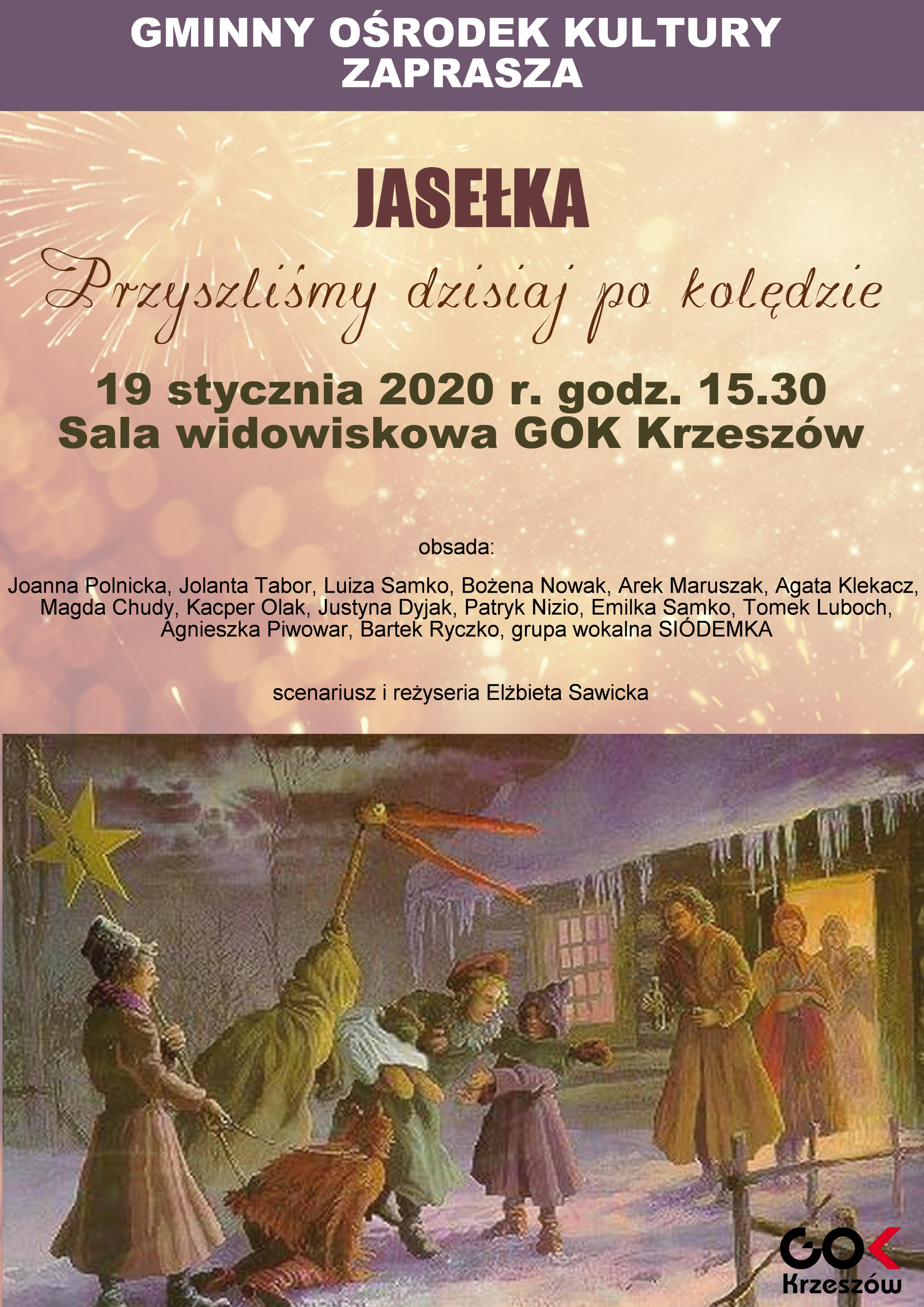 GOK Krzeszów zaprasza na Jasełka
