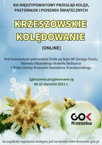 Krzeszowskie Kolędowanie 2021 - plakat