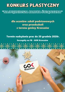 """Konkurs plastyczny """"Najpiękniejsza kartka świąteczna"""" - plakat"""