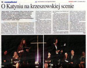 """""""Teatr Telewizji GOK Krzeszów"""" w lokalnej prasie"""