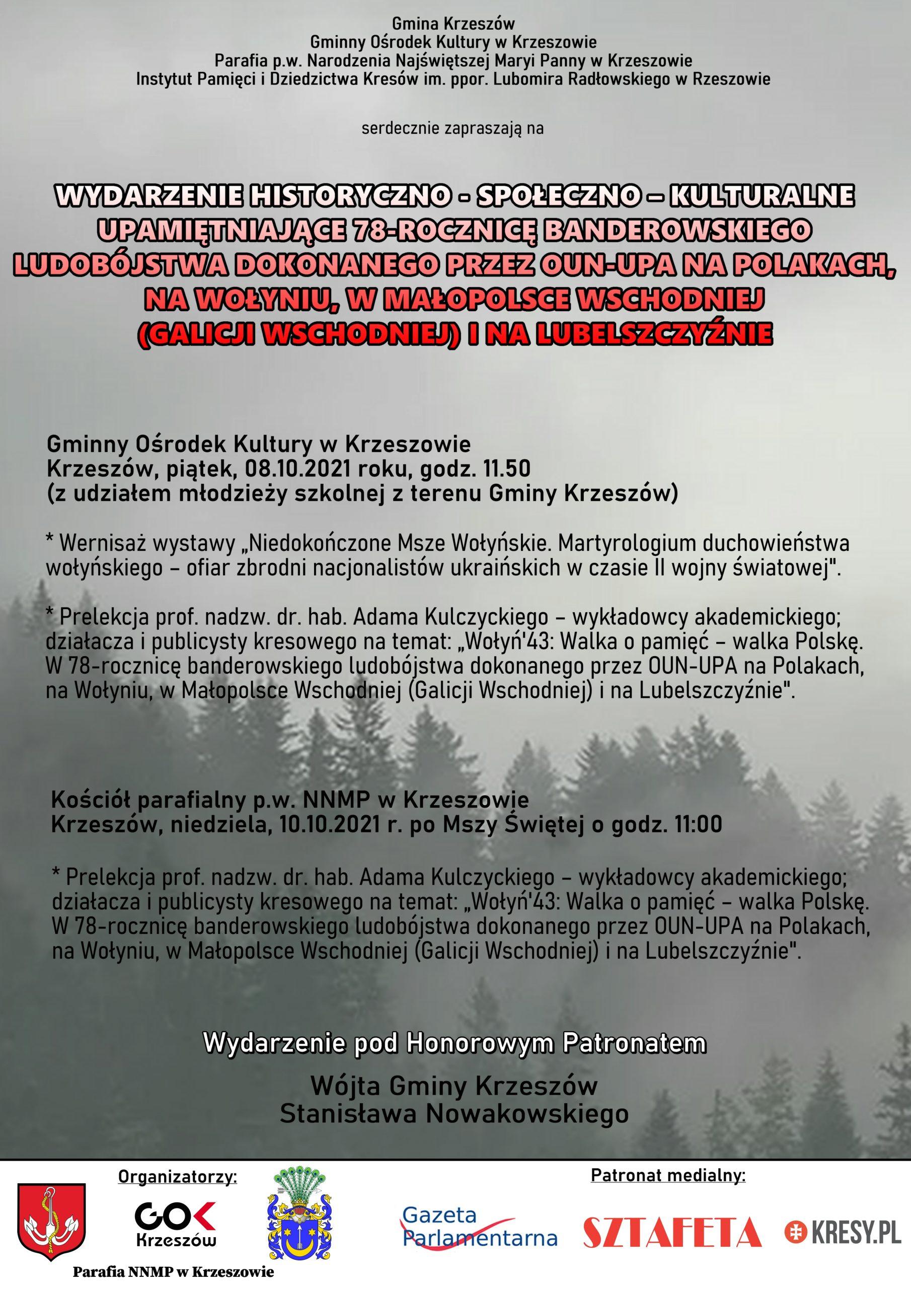 Wołyń '43. W Krzeszowie o ludobójstwie na Kresach.